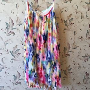 Mystree pleated rainbow dress